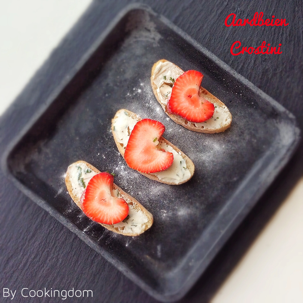 Aardbeien Crostini by Cookingdom
