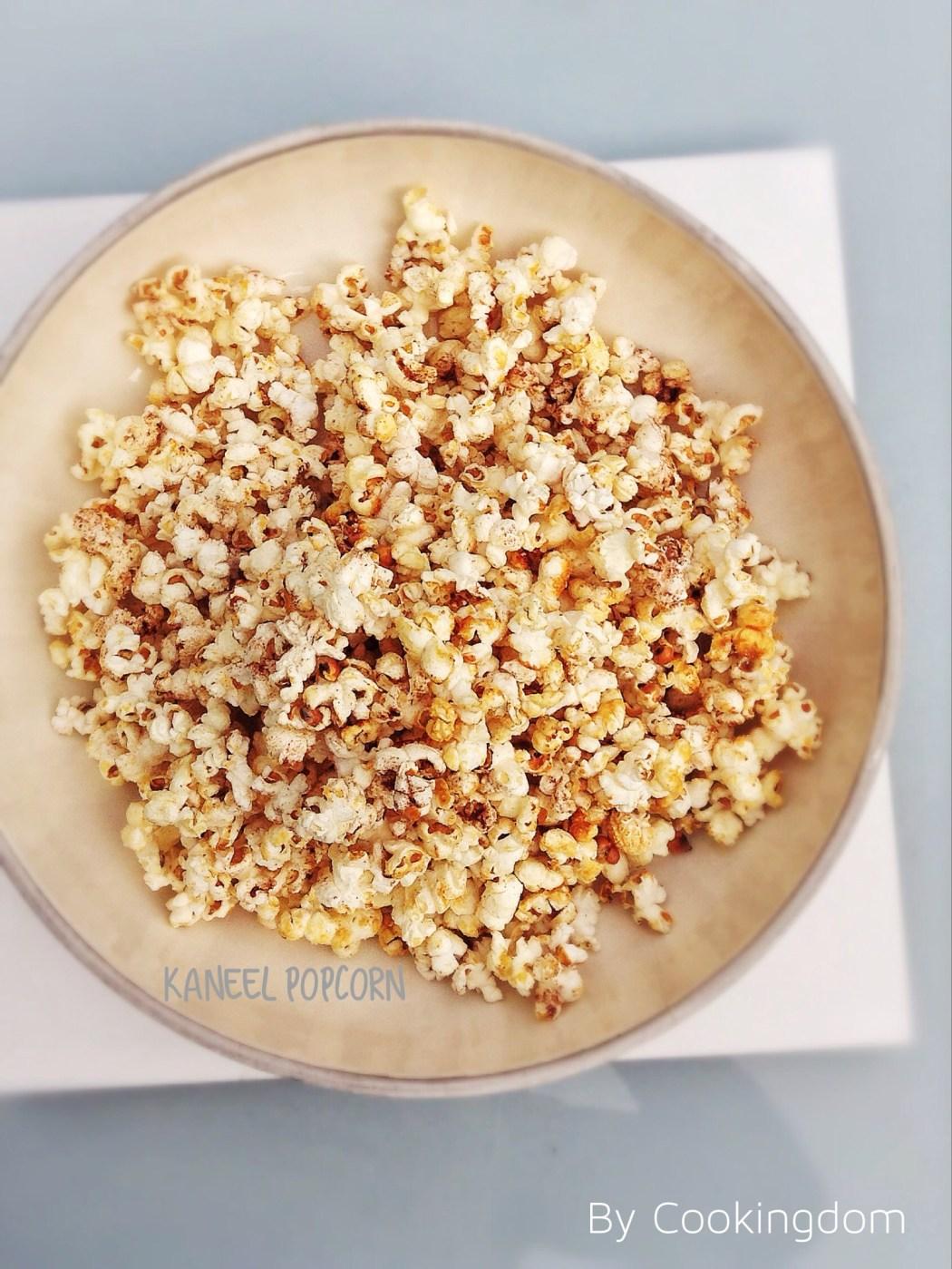 Kaneel popcorn uit de pan