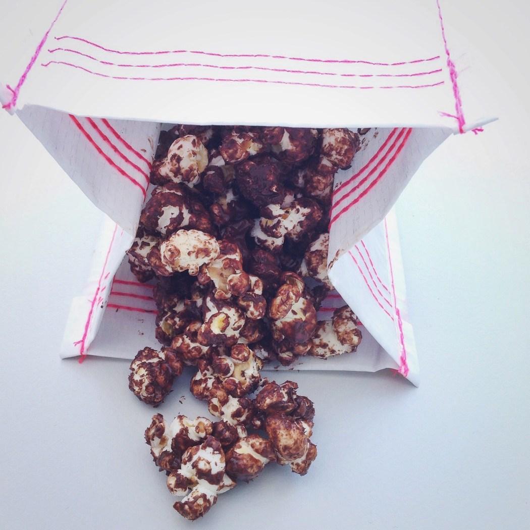 Gezouten chocolade popcorn, by Cookingdom