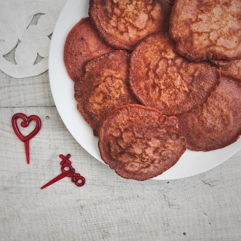 Red velvet pannenkoeken