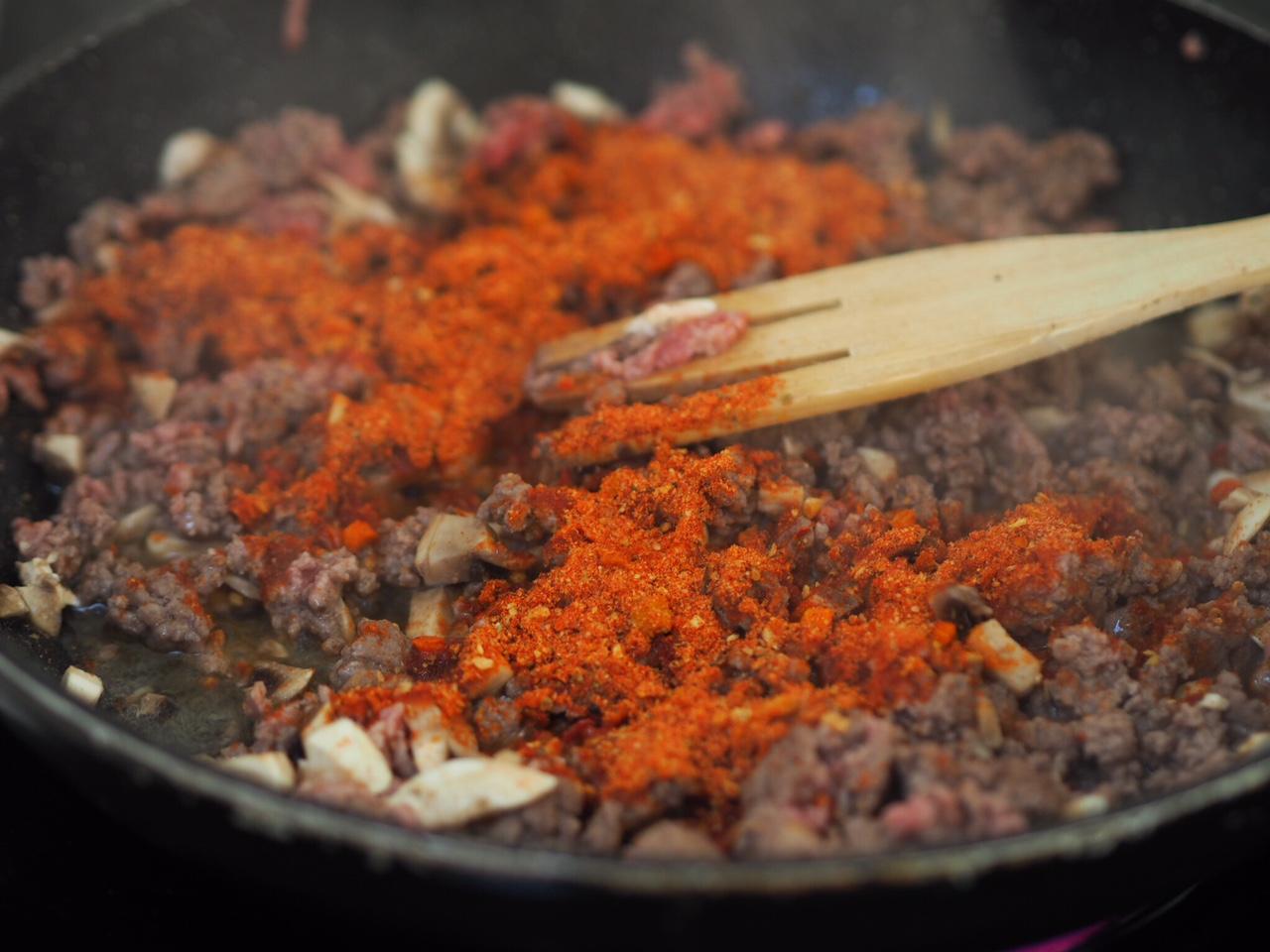 Beef Bolognese Casserole with Parmesan Dumplings