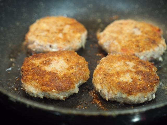 Turkey and Salami Burger patties