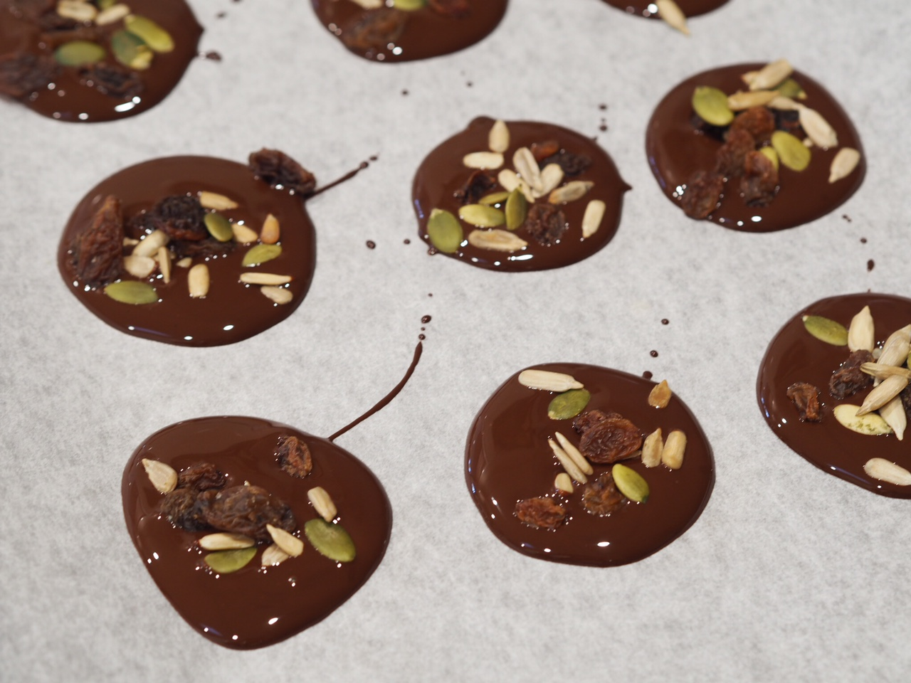 Dark Chocolate and Seed Mix Discs