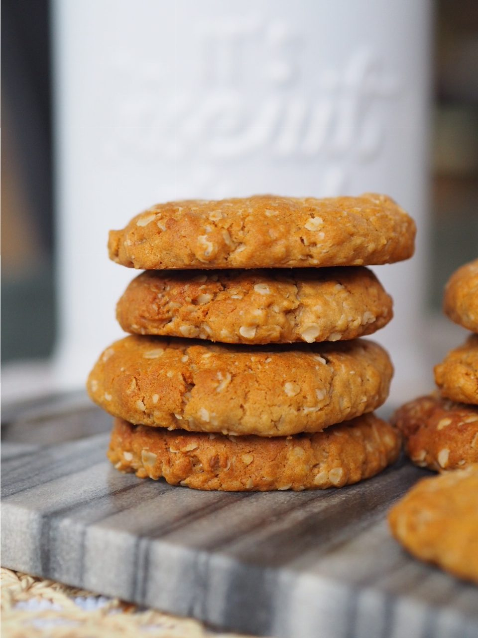 Oat, Peanut Butter and Honey Biscuits