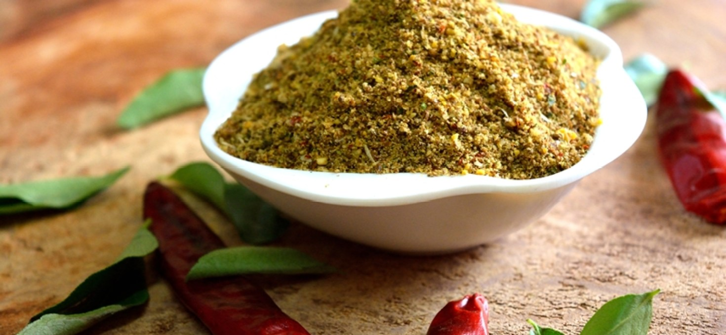Garlic Curry Leaves Flaxseeds Idli Podi/Chutney Powder