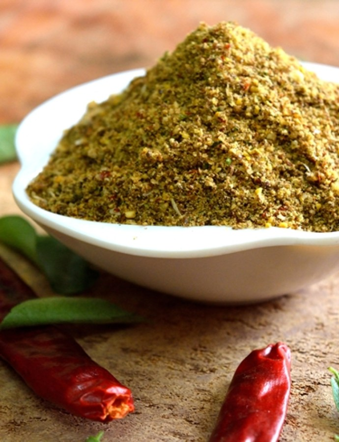 Garlic Curry Leaves Flaxseeds Idli Podi/Chutney Powder