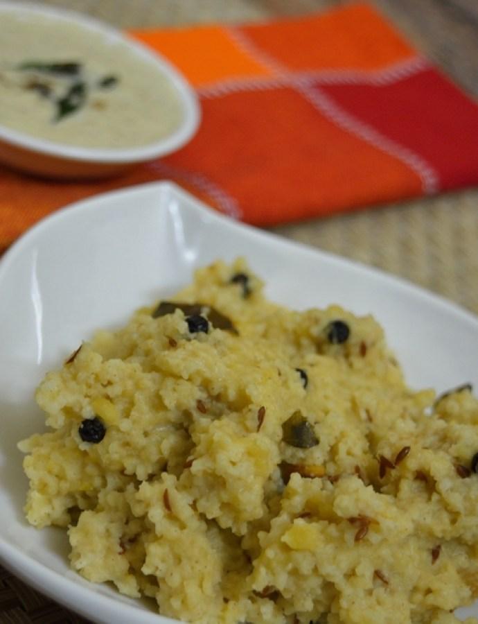 Thinai/Foxtail Millet Pongal