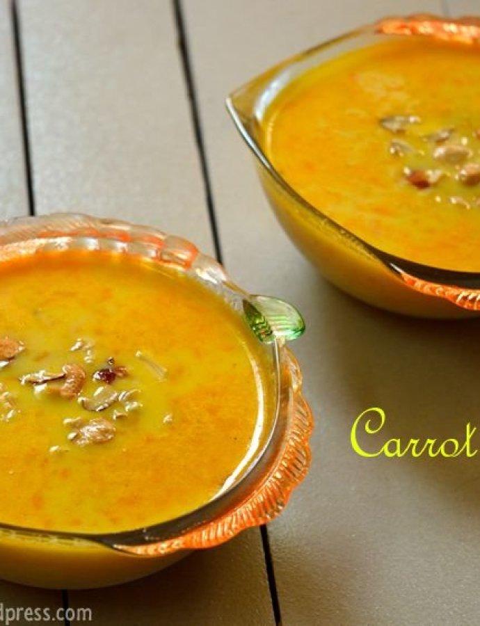 Carrot Kheer | Carrot Payasam