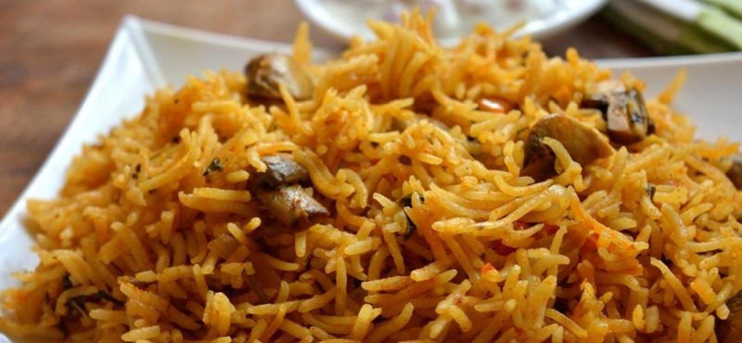Mushroom Biriyani