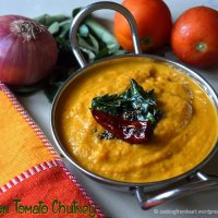 Onion Tomato Chutney | Vengayam Thakkali Chutney