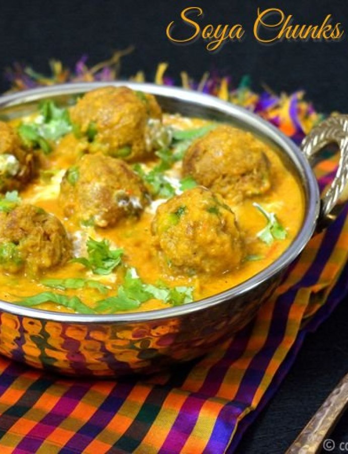Soya Chunks Kofta Curry | Low Calorie Recipe