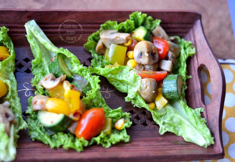 Lettuce Wrap Salad (2)
