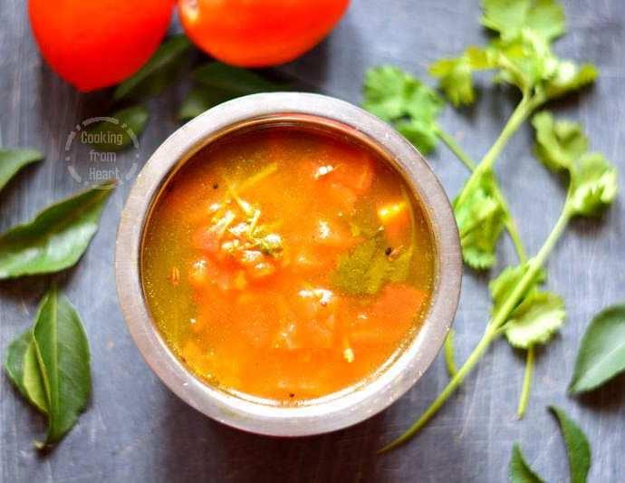 Tomato Charu | Thakkali Rasam | Andhra Charu Recipe