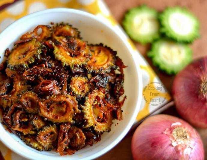 Crispy Bitter Gourd Stir Fry | Pavakkai Poriyal | Kakarakaya Koora