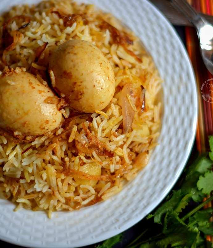Kolkatta Egg Dum Biryani | Sunday Biryani Recipes