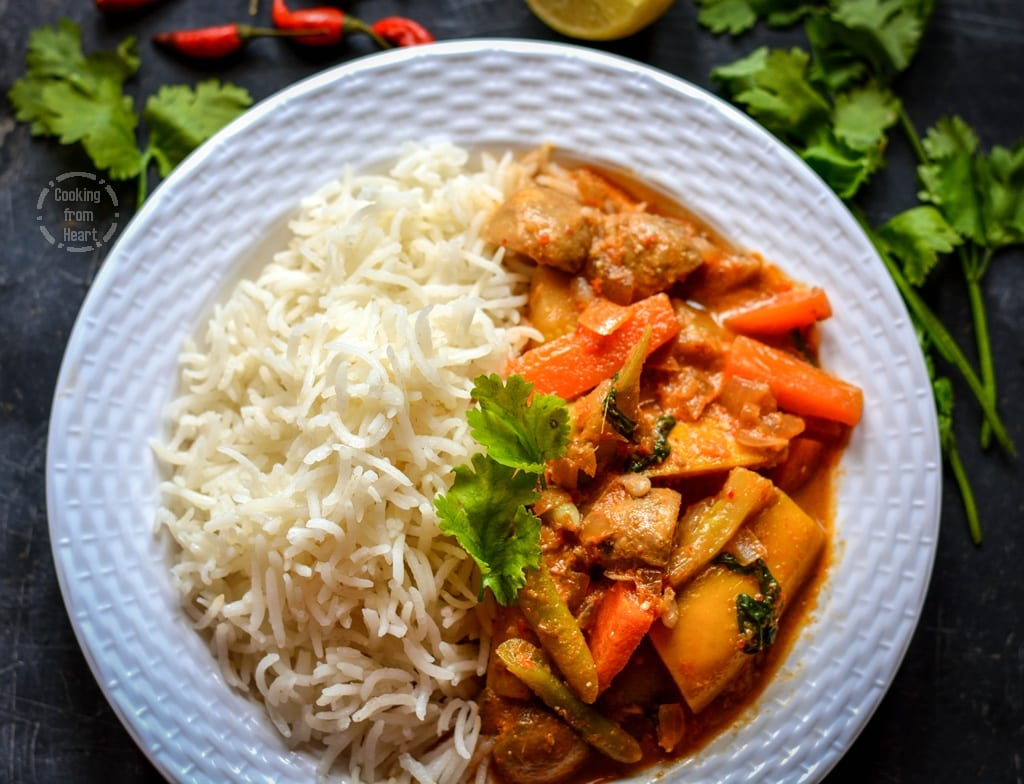 Thai Red Curry with Lemon Grass Rice (1)
