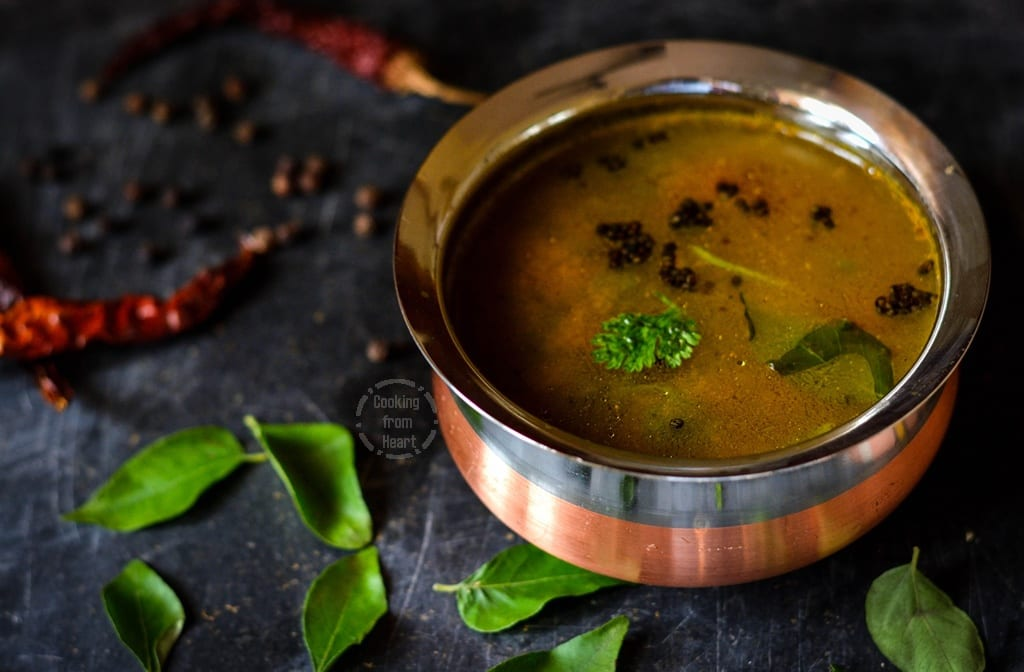 Milagu Rasam | Hot Pepper Rasam | South Indian Pepper Soup