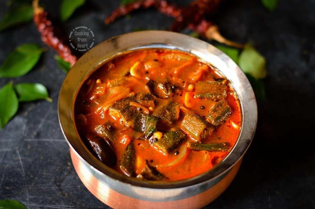 Vendakkai Puli Kuzhambu | Spicy Tangy Okra Gravy