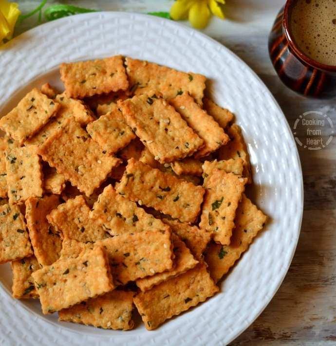 Masala Biscuits | Khara Biscuits | Savory Crackers