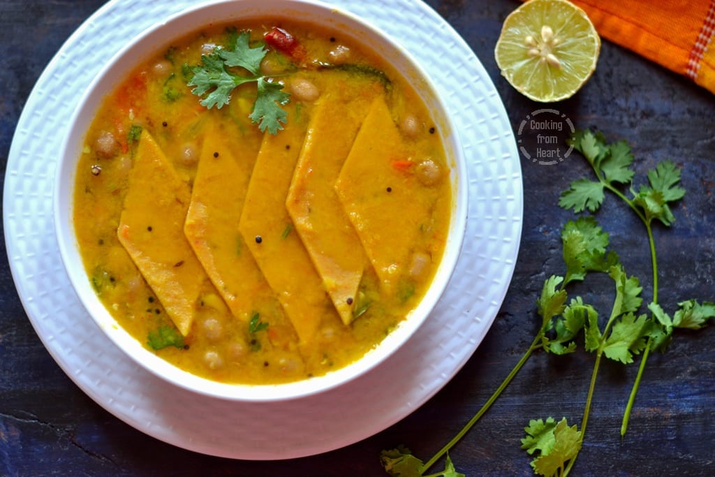 Dal Dhokli  Gujarati Special Dal Dhokli  Cooking From Heart