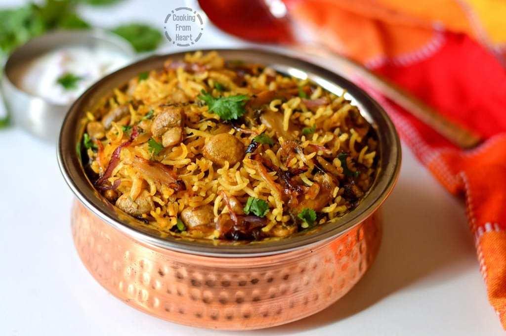 Chettinad Mushroom Biryani