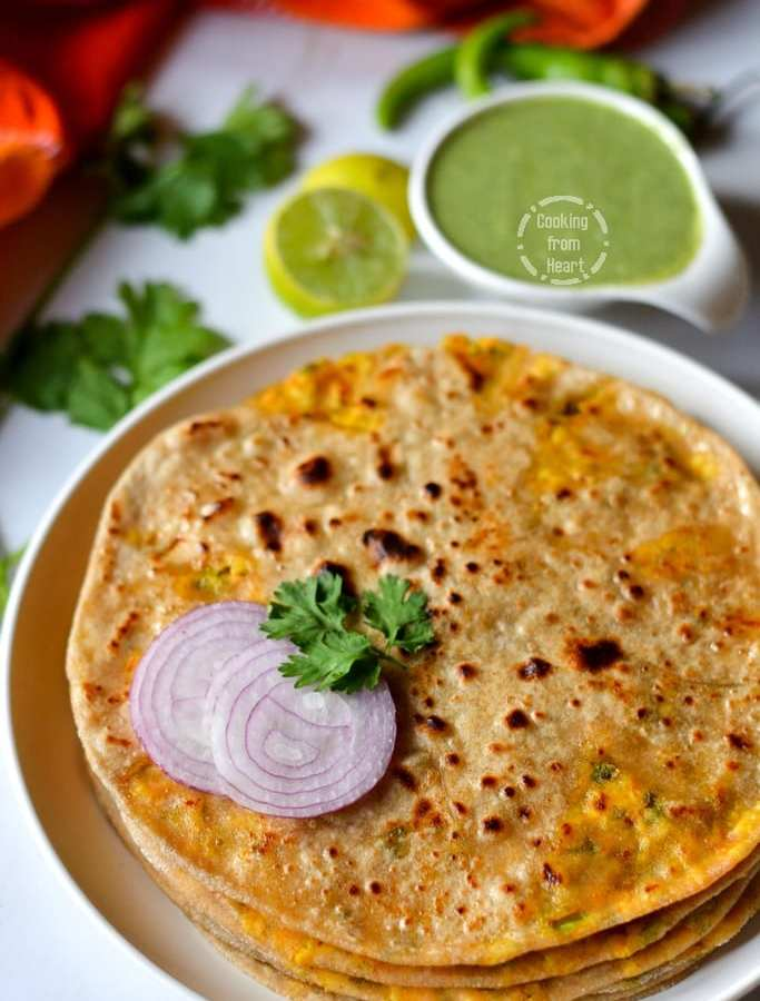 Paneer Paratha | Cottage Cheese Stuffed Indian Bread