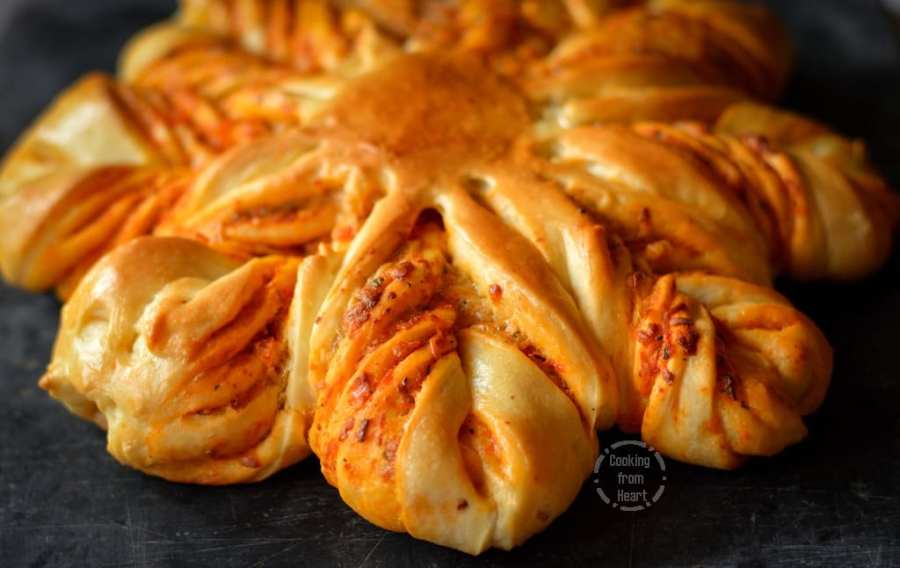 Cheesy Brioche Flower Bread