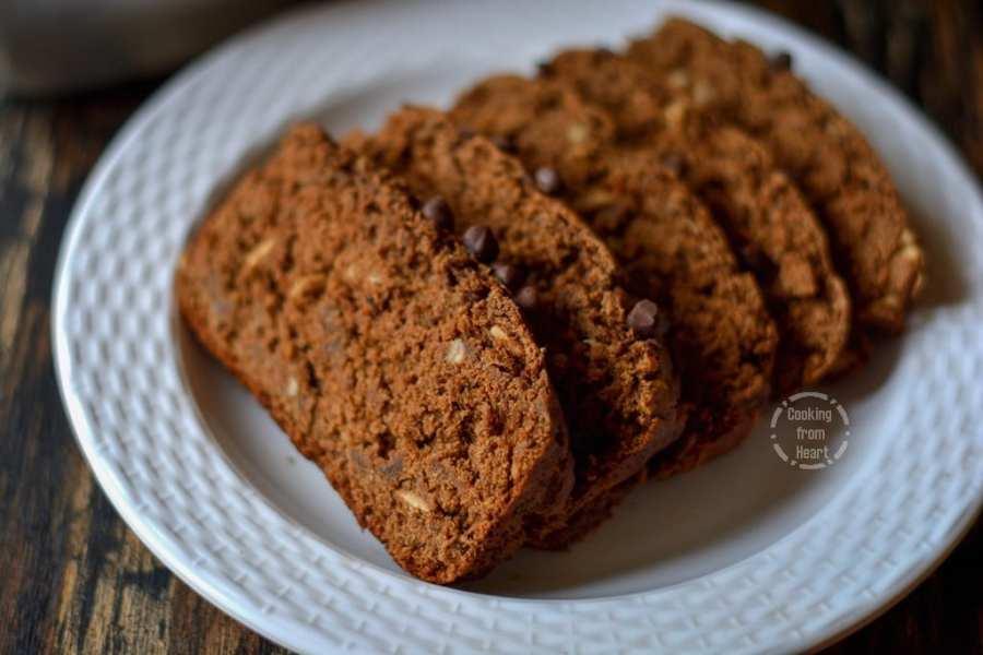Eggless Chocolate Banana Bread
