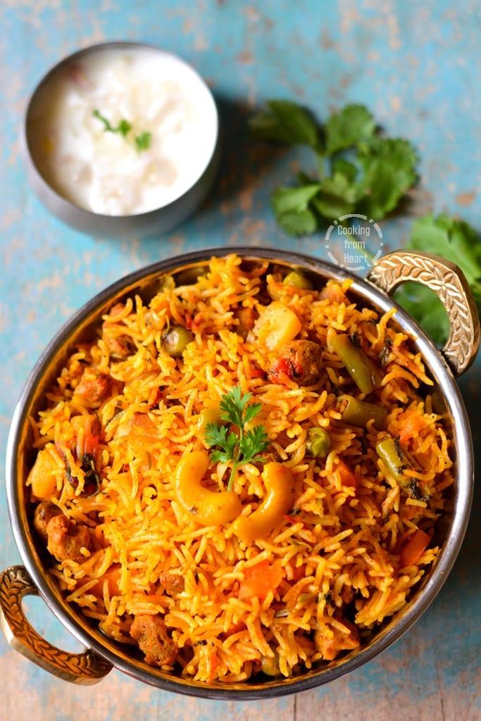 Vegetable Biryani In Pressure Cooker Cooking From Heart