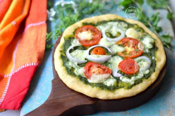 Mint Pesto Whole Wheat Pizza