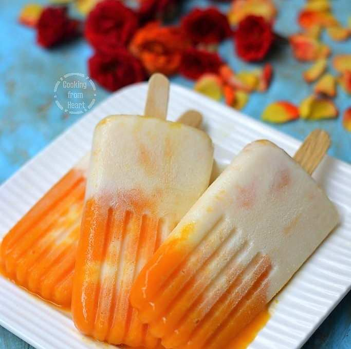 Mango Vanilla Popsicle | Mango Duet Ice Cream