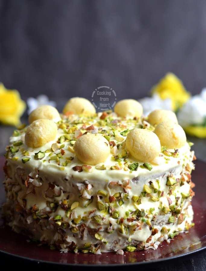 Eggless Rasmalai Cake