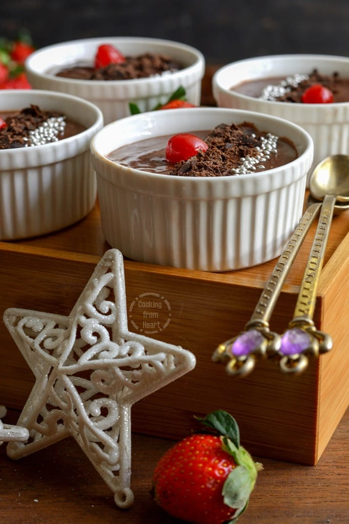 Eggless Chocolate Pudding