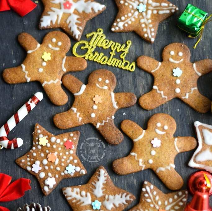 Eggless Gingerbread Cookies | Homemade Gingerbread Men Cookies