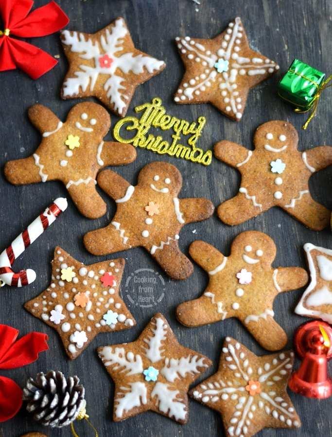 Eggless Gingerbread Cookies | Homemade Gingerbread Men Cookies