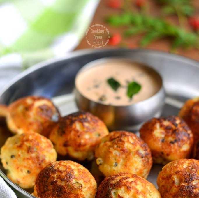 Vegetable Kuzhi Paniyaram | Instant Paniyaram with Idli Batter