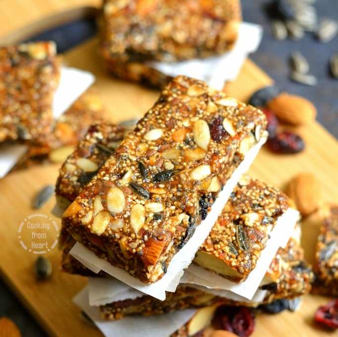 Homemade Energy Bar | Dry Fruit Energy Bar