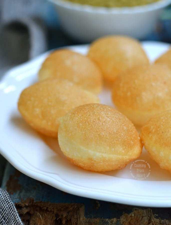 Puri Recipe for Pani Puri | Sooji Golgappa