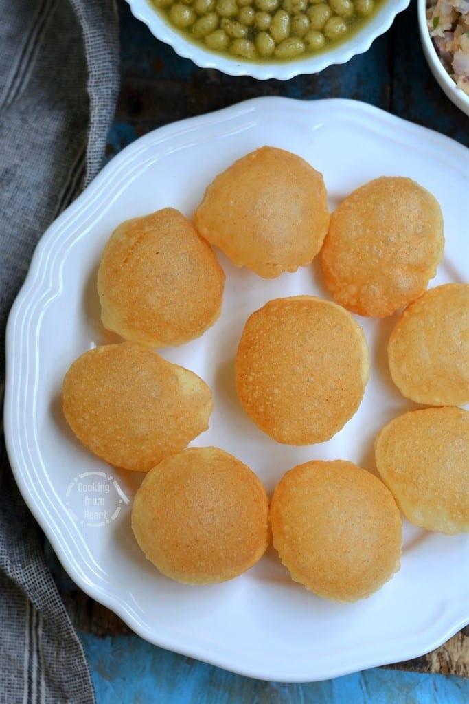 Crispy Puri for Pani Puri