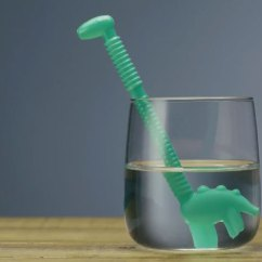 Kitchen Aid Wine Cooler L Shaped Rug Dino Straws: Dinosaur-shaped Drinking Straws - Cooking Gizmos