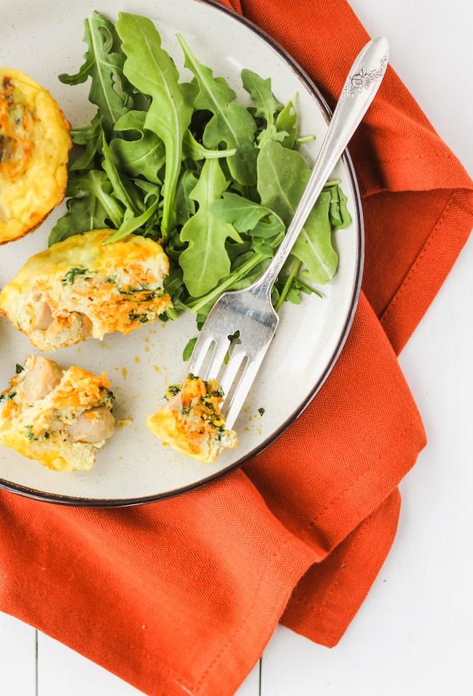 Savoury Turkey Breakfast Sausage Egg Muffins   cookinginmygenes.com