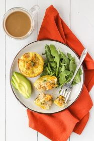 Savoury Turkey Breakfast Sausage Egg Muffins | cookinginmygenes.com