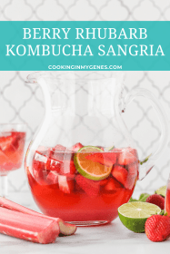 Berry Rhubarb Kombucha Sangria