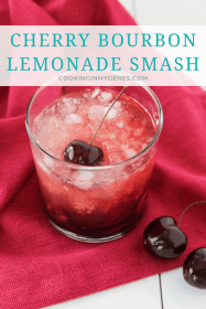 Cherry Bourbon Lemonade Smash