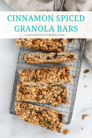 Cinnamon Spiced Granola Bars
