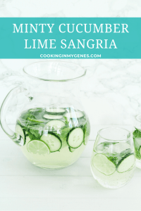 Minty Cucumber Lime Sangria