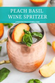 Peach Basil Wine Spritzer
