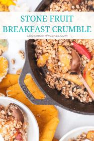 Stone Fruit Breakfast Crumble