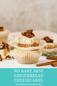 No Bake Gingerbread Mini Cheesecakes