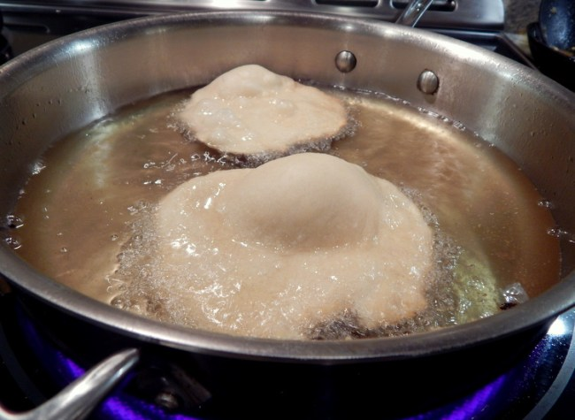 Arepas Frying